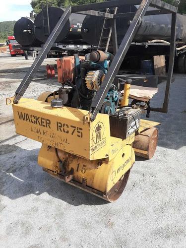 rolo compactador wacker rc 75 - ano 1990