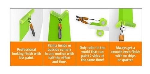 rolo de pintura duplo portao parede 2 em 1 dobravel 4 espuma