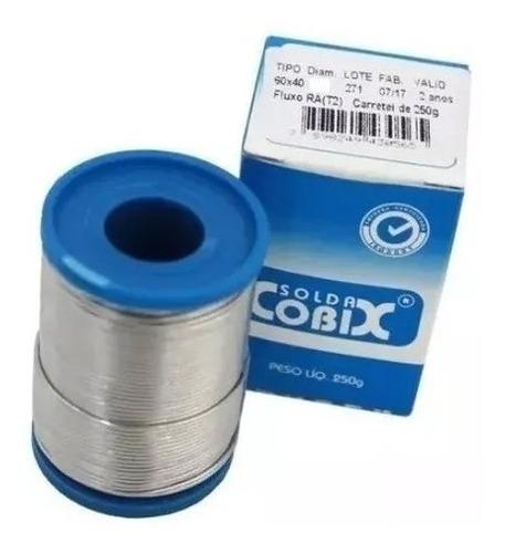 rolo de solda cobix 1mm 250g 60x40 estanho