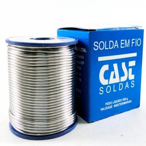 rolo de solda estanho 500g 1.00mm  cast promoçao