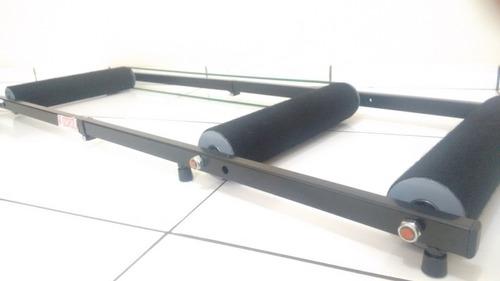 rolo de treino triplo para bike r-scroll - menos ruido