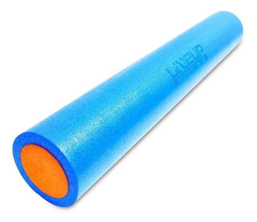 rolo de yoga e pilates 90x15cm liveup em espuma ls3764a