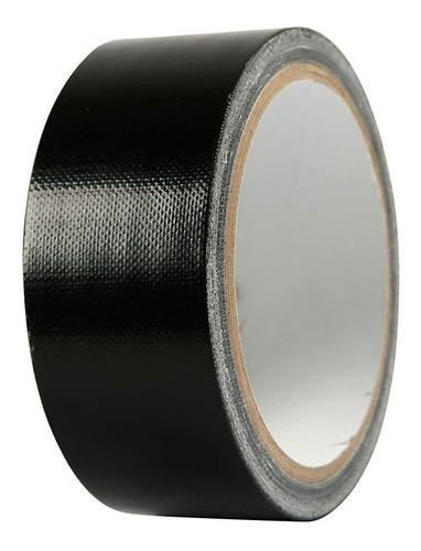 rolo fita silver tape preta multi uso 48 mm x10 mts