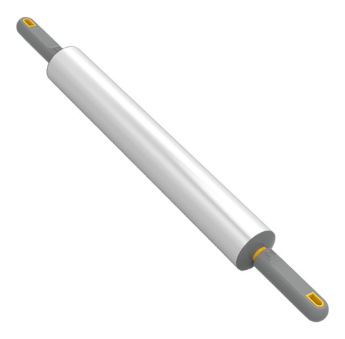 rolo pau macarrão cilindro massas cromado profissional 28cm