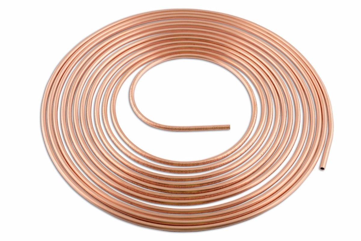 Rolo tubo de cobre refrigera o e g s 3 16 15 mts flex - Tubo de cobre para gas ...