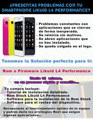 rom stock likuid l4 performance  firmware software