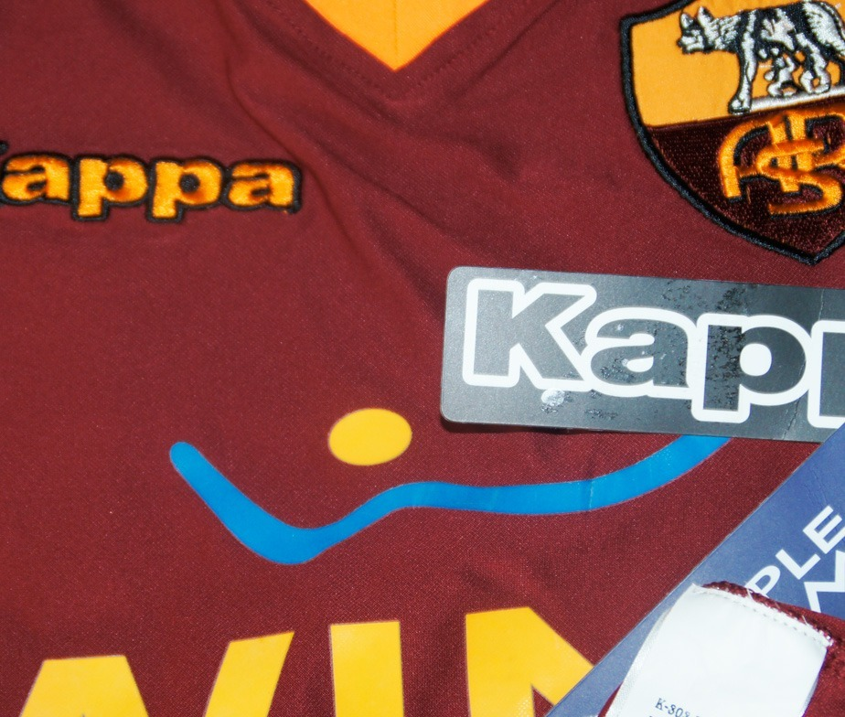 58b372938d8a8 Jersey Kappa As Roma 2009 Vino Serie A Italia Super-soccer ...