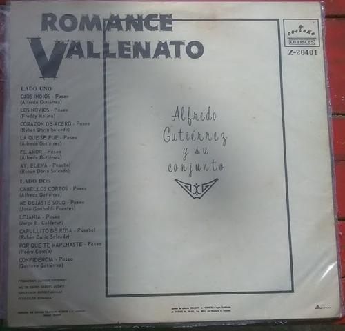 romance vallenato- vinilo