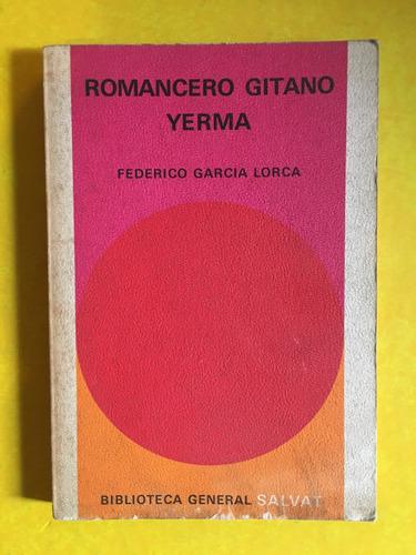 romancero gitano, yerma, federico garcía lorca, 140 pag