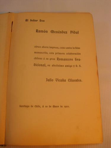 romances populares y vulgares. j vicuña cifuentes. 1912