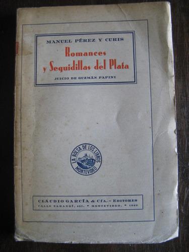 romances y seguidillas del plata.m. perez y curis