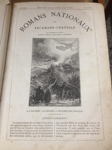 romans nationaux - erckmann-chatrian - paris - 1867
