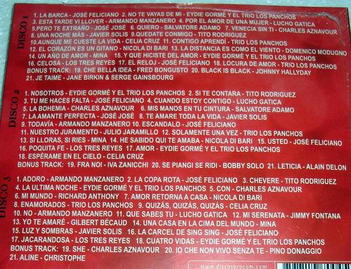 romanticos latinos feliciano soliz cruz triple cd sellado