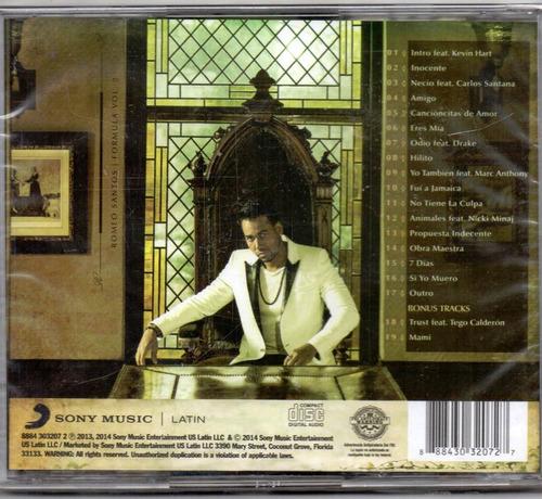 romeo santos. formula vol.2 deluxe. cd original nuevo