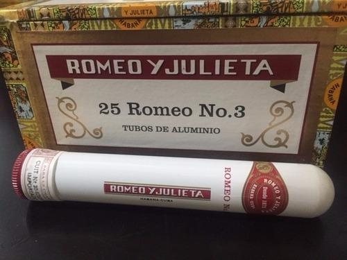 romeo y julieta nro 3 tubo-caja x 25 habanos-cuba-original