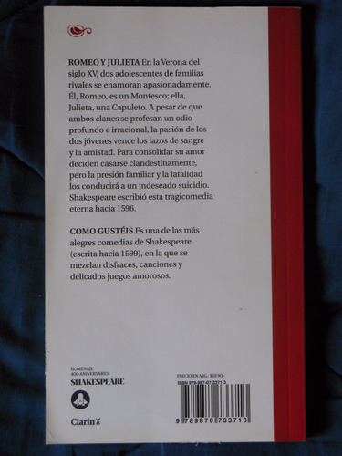 romeo y julieta - shakespeare | edicion aniversario 400º