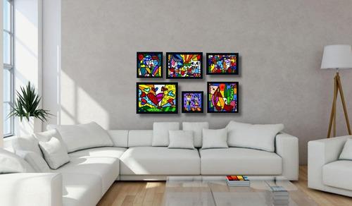romero brito  6 quadros os mais famosos salas quartos