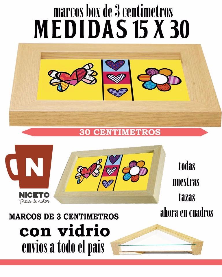 Romero Britto Corazon Cuadro Marco Box 15 X30 Cm Niceto - $ 312,50 ...