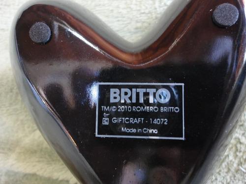 romero britto portavela coração novo original