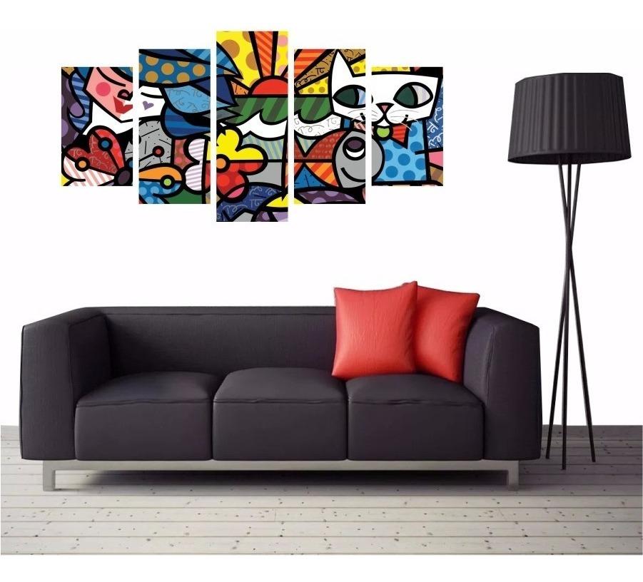 512b25045 romero britto quadro decorativo tela canvas pintor brasil. Carregando zoom.