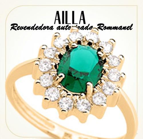 rommanel anel aliança formatura solitário f/ ouro 18k 511482
