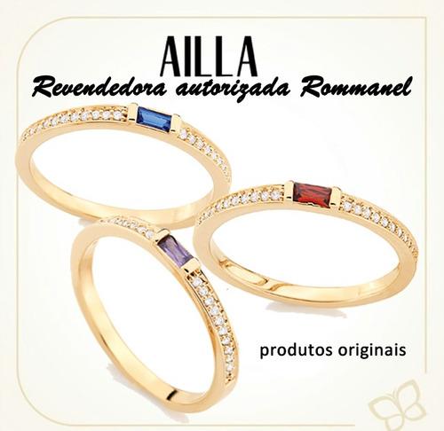rommanel anel formatura anel  skinny 23 zircônias  511879