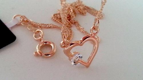rommanel cordão coração feminino cristal presente 531182 p