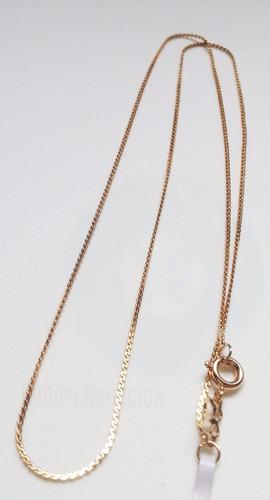 rommanel cordão dourado folheado 18k namorada 50cm 531501