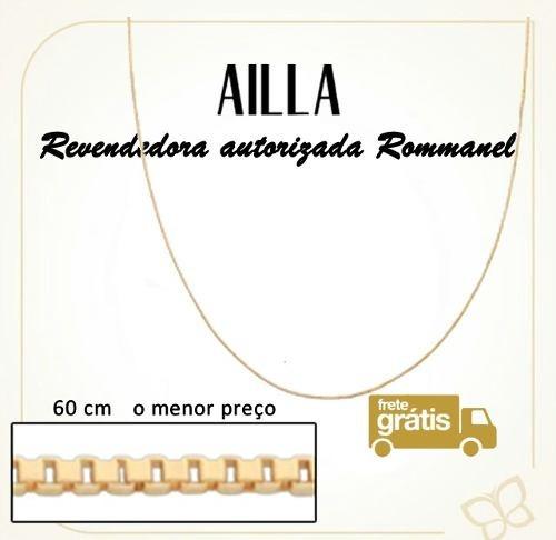 rommanel corrente fio veneziana 8mm 60 cm f /ouro   531312
