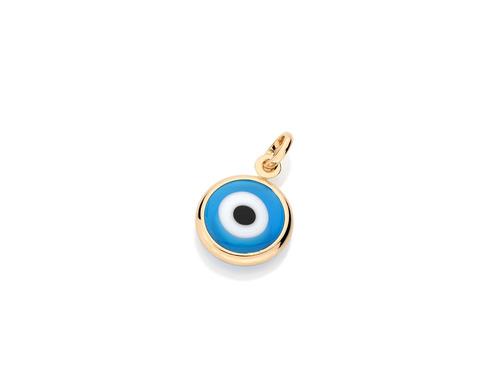 rommanel pingente   olho grego  folheado  ouro 1,7 cm 541649