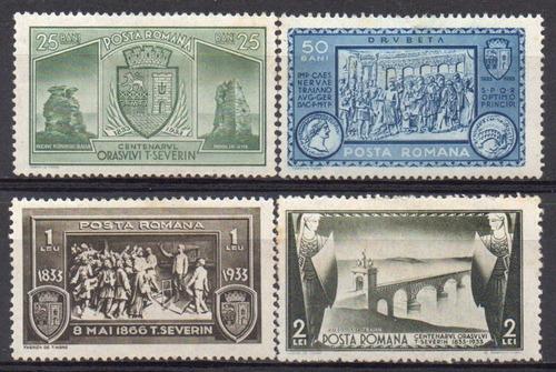 romênia - cent incorporação de turnu severin - 1933 - s/comp
