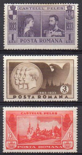 romênia - construção do castelo de peles - 1933 - s/completa