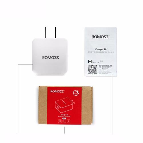 romoss ac10 usb telefone carregador rápido parede qc2.0 pod