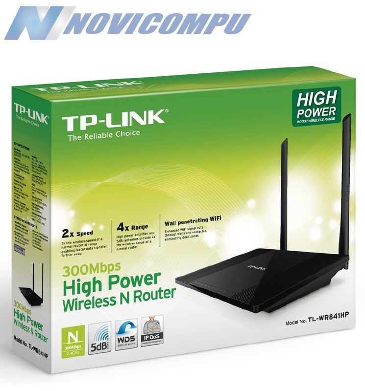 rompe paredes wifi tp link tl wr841hp 300mbps 600mw u s