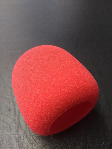 rompe viento stagg color rojo anti pop para microfono