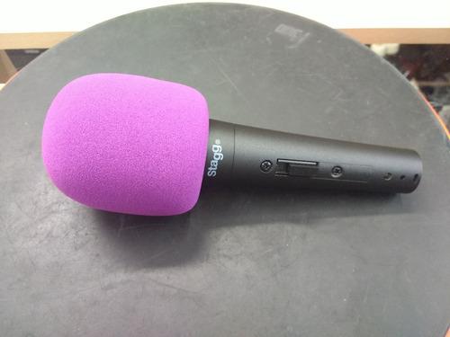 rompe viento stagg color violeta anti pop para microfono