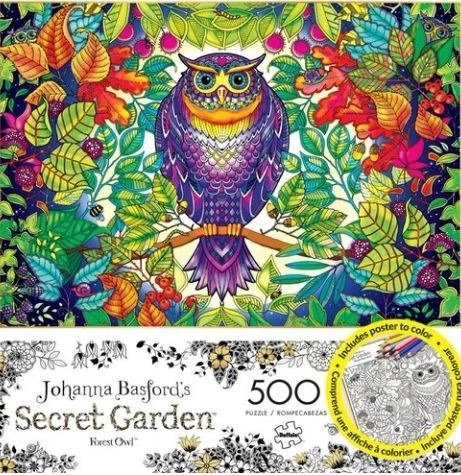 Rompecabeza Colorear Secret Garden Búho Cuadro Diseño Póster