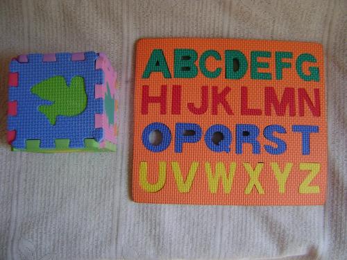 rompecabeza del abecedario y cubo en foami colegio
