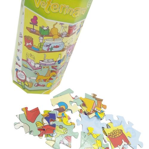 rompecabeza veterinaria juego didactico 88 piezas para niños