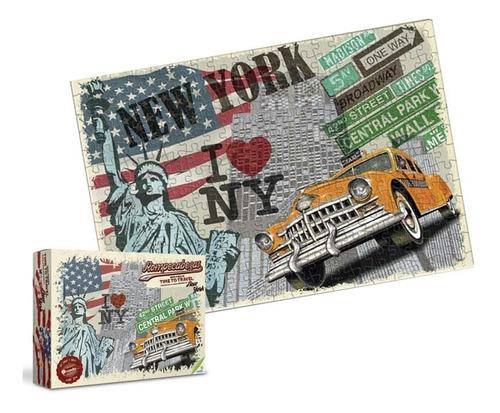 rompecabezas 1000 piezas nueva york vintage new time ronda
