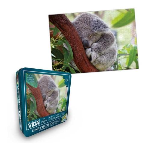rompecabezas 1000 piezas ronda koala colección vida en lata