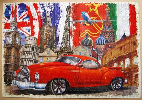 rompecabezas 1000 piezas time to travel vintage de ronda