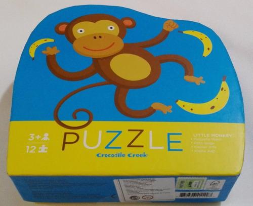 rompecabezas  12 piezas grandes pequeño mono didactikids