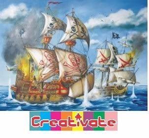 rompecabezas 200 piezas piratas en el mar ravensburguer