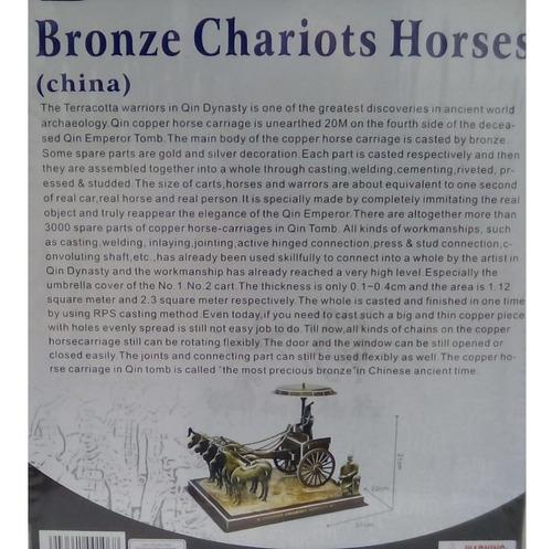 rompecabezas 3d calebou carros de bronce chinos