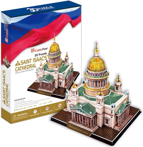 rompecabezas 3d catedral de san isaac 105 pzs cubic fun