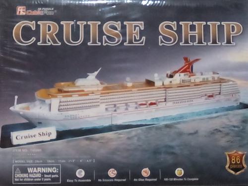 rompecabezas 3d cubicfun barco crucero (serie t )