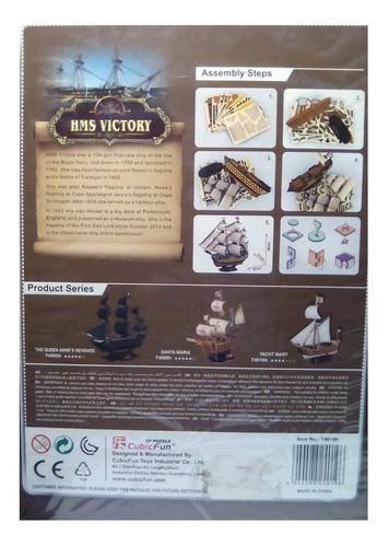 rompecabezas 3d cubicfun barco hms victoria inglés  (serie t