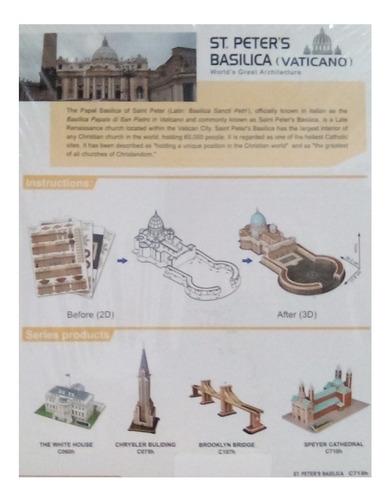 rompecabezas 3d cubicfun basilica de san pedro (serie c )