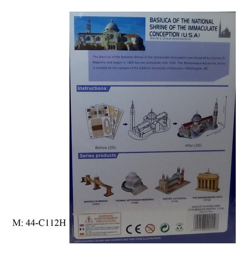 rompecabezas 3d cubicfun basilica inmaculada concepcion